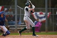 Dartmouth Big Green Ben Rice (9) bats during a game against the Indiana State Sycamores on February 21, 2020 at North Charlotte Regional Park in Port Charlotte, Florida.  Indiana State defeated Dartmouth 1-0.  (Mike Janes/Four Seam Images)