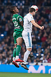 Real Madrid Nacho Fernandez and Leganes Claudio Beauvue during King's Cup match between Real Madrid and Leganes at Santiago Bernabeu Stadium in Madrid, Spain. January 24, 2018. (ALTERPHOTOS/Borja B.Hojas)