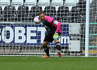 Pictured: Swansea cgairman Huw Jenkins the team Woodyatt goalkeeper. Sunday, 01 June 2014<br /> Re: Celebrities v Celebrities football game organised by Sellebrity Scoccer, in aid of Swansea City Community Trust, at the Liberty Stadium, south Wales.