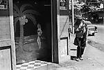 Puntarenas, Costa Rica, Central America. 1973. Entrance to bar.