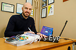 Pierce Dargan, a teachers in the Presentation Castleisland Secondary school on line with his students on Friday.