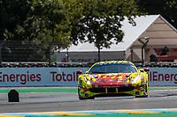 #57 Kessel Racing Ferrari 488 GTE EVO LMGTE Am, Takeshi Kimura, Scott Andrews, Mikkel Jensen, 24 Hours of Le Mans , Test Day, Circuit des 24 Heures, Le Mans, Pays da Loire, France