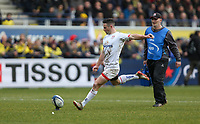 11 January 2020; John Cooney converts for Ulster against Clermont during the Heineken Champions Cup Pool 3 Round 5 match between ASM Clermont Auvergne and Ulster at Stade Marcel-Michelin in Clermont-Ferrand, France. Photo by John Dickson/DICKSONDIGITAL