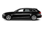 Car Driver side profile view of a 2017 Audi A4 Sport 5 Door Wagon Side View