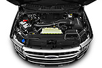 Car Stock 2021 Ford F-150 Platinum 4 Door Pick-up Engine  high angle detail view