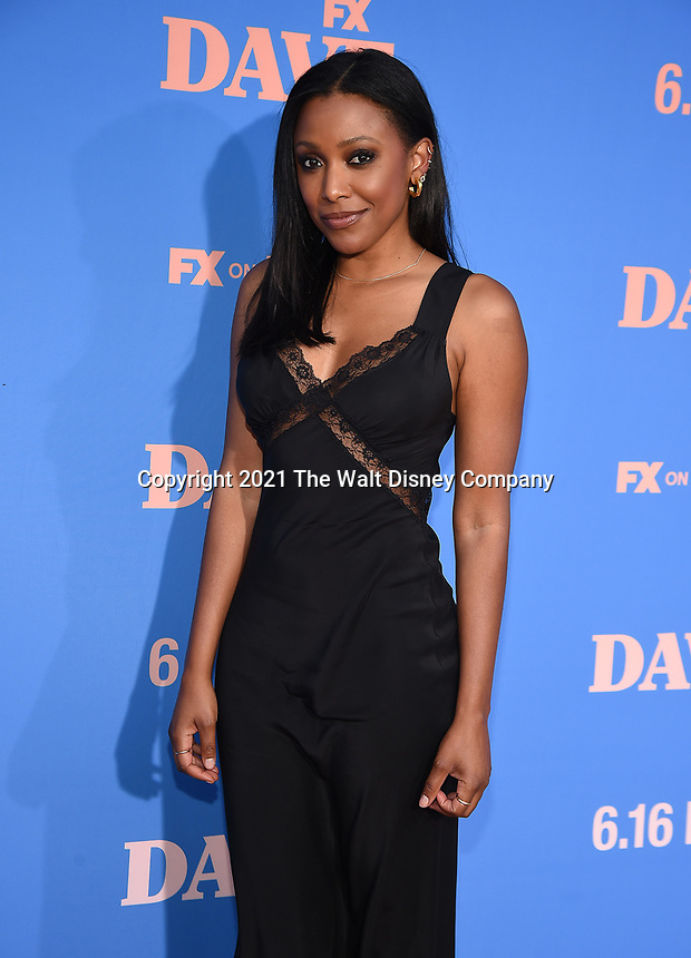 """LOS ANGELES, CA - JUNE 10: Meagan Holder attends the Season Two Red Carpet event for FXX's """"DAVE"""" at the Greek Theater on June 10, 2021 in Los Angeles, California. (Photo by Frank Micelotta/FXX/PictureGroup)"""