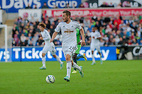 Saturday 4th  October 2014 Pictured: Gylfi Sigurosson of Swansea City <br /> Re: Barclays Premier League Swansea City v Newcastle United at the Liberty Stadium, Swansea, Wales,UK