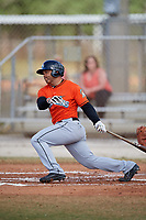 Miami Marlins Justin Twine (14) during a Minor League Spring Training Intrasquad game on March 27, 2018 at the Roger Dean Stadium Complex in Jupiter, Florida.  (Mike Janes/Four Seam Images)