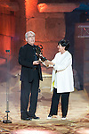 jose Sacristan and Concha Velasco during 2015 Theater Ceres Awards ceremony at Merida, Spain, August 27, 2015. <br /> (ALTERPHOTOS/BorjaB.Hojas)