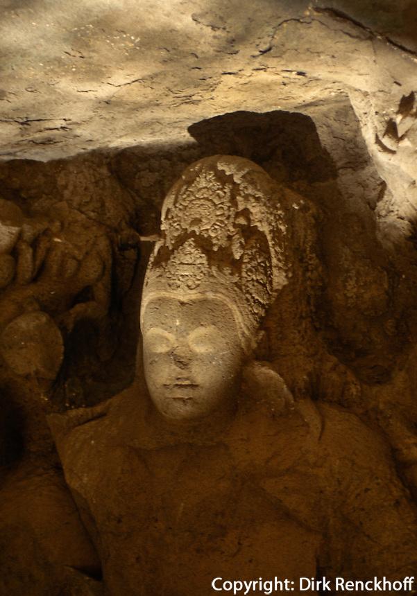 Indien, Bombay (Mumbai), Elephanta, Shiva im Höhlntempel, Unesco-Weltkulturerbe