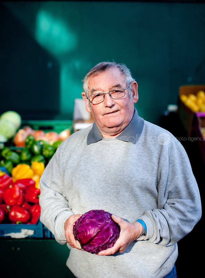 26/8/2011. Dublin Fruit and Vegetable Market. Joe Lawlor of J and N Lawlorhas been working at the Dublin Fruit and Vegetable Market. for over 40 years. Picture James Horan/Collins Photos