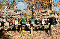 Rural mailboxes, Connecticut, CT