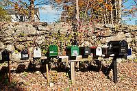 Rural mailboxes, Connecticut, CT