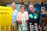 Pictured at the Letter Party in the Sea Lodge Waterville on Sunday in aid of the South Kerry MS Society were l-r; Johnny O'Sullivan, Abe Huggard & Pat O'Shea.