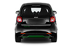Straight rear view of a 2018 Smart fortwo Greenflash 3 Door Hatchback stock images