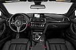 Stock photo of straight dashboard view of a 2020 BMW M4 Base 2 Door Convertible