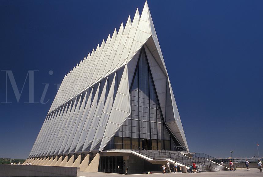 chapel, air force, Colorado Springs, CO, Colorado, The Chapel at the U.S. Air Force Academy in Colorado Springs.
