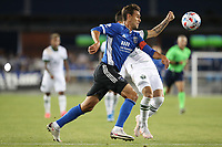 SAN JOSE, CA - MAY 15: Chris Wondolowski #8 of the San Jose Earthquakes moves with the ball during a game between Portland Timbers and San Jose Earthquakes at PayPal Park on May 15, 2021 in San Jose, California.
