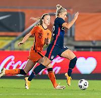 BREDA, NETHERLANDS - NOVEMBER 27: Kristie Mewis #22 of the USWNT dribbles during a game between Netherlands and USWNT at Rat Verlegh Stadion on November 27, 2020 in Breda, Netherlands.