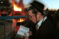Israel. Mount Meron. The annual celebration of Rabbi Shim''on Bar Yohai. Every year, at the Jewish holiday of Lag Ba''Omer, thousands of jewish believers visit the grave of Rabbi Shim''on Bar Yohai.