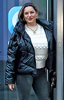 Kelly Brook arrives at Global Radio in Leicester Square, London on November 25th 2020