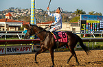 DEL MAR, CA  AUGUST 7:  #8 Princess Grace, ridden by Kent Desormeaux,<br /> In the return to the connections after winning the Yellow Ribbon Handicap (Grade ll), on August 7, 2021, at Del Mar Thoroughbred Club in Del Mar, CA. (Photo by Casey Phillips/Eclipse Sportswire/CSM)