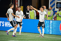 FOXBOROUGH, MA - OCTOBER 19: Anthony Fontana #21 of Philadelphia Union celebrates his goal during a game between Philadelphia Union and New England Revolution at Gillette on October 19, 2020 in Foxborough, Massachusetts.