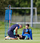 Jason Holt getting treatment from physio Stevie Walker