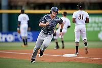 Tampa Yankees designated hitter Trey Amburgey (17) runs home during the second game of a doubleheader against the Bradenton Marauders on June 14, 2017 at LECOM Park in Bradenton, Florida.  Tampa defeated Bradenton 5-1.  (Mike Janes/Four Seam Images)