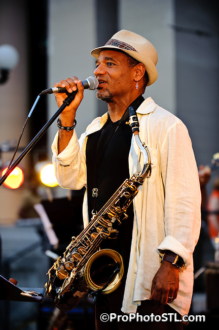 Kirk Whalum band in concert at Missouri History Museum in St. Louis on June 2, 2009.