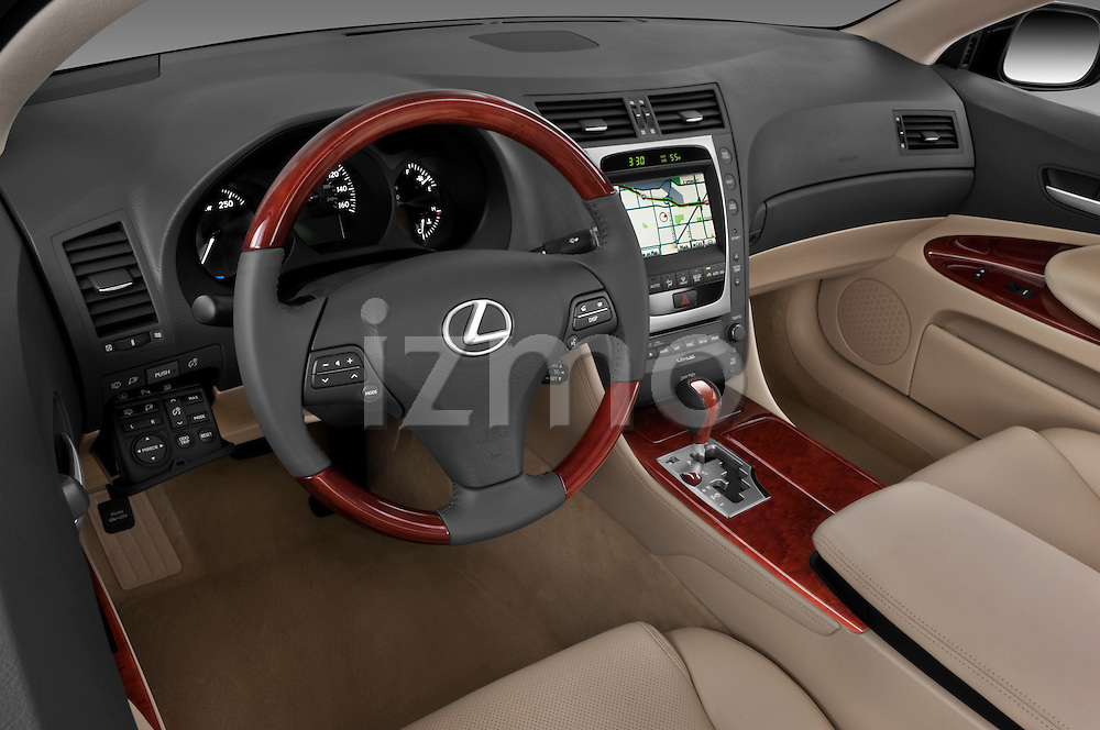 High angle dashboard view of a 2010 Lexus GS Hybrid