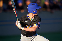 Alamo Heights Mules shortstop Michael Kelleher (10) at bat during a game against the Floresville Tigers on April 22, 2016 at the Park at Alamo Heights in San Antonio, Texas.  Alamo Heights defeated Floresville 5-0.  (Mike Janes/Four Seam Images)