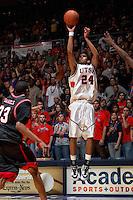 SAN ANTONIO, TX - FEBRUARY 11, 2006: The Lamar University Cardinals vs. The University of Texas at San Antonio Roadrunners Men's Basketball at the UTSA Convocation Center. (Photo by Jeff Huehn)