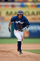Lakeland Flying Tigers second baseman Will Maddox (3) running the bases during the first game of a doubleheader against the St. Lucie Mets on June 10, 2017 at Joker Marchant Stadium in Lakeland, Florida.  Lakeland defeated St. Lucie 6-5 in fourteen innings.  (Mike Janes/Four Seam Images)