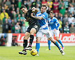 St Johnstone v Celtic…20.08.16..  McDiarmid Park  SPFL<br />Tom Rogic and Paul Paton battle for the ball<br />Picture by Graeme Hart.<br />Copyright Perthshire Picture Agency<br />Tel: 01738 623350  Mobile: 07990 594431