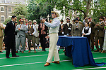 """The Chap Olympiad Bedford Square London UK. The ceremony of lighting the Olympiad Pipe at the start of the """"Chap Olympiad"""". Gustav Temple editor of The Chap Magazine."""