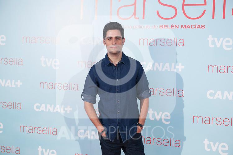 Miguel Diosdado poses at `Marsella´ film premiere photocall at Capital cinema in Madrid, Spain. July 17, 2014. (ALTERPHOTOS/Victor Blanco)
