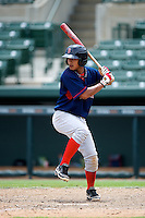 GCL Red Sox Tzu-Wei Lin #12 during a Gulf Coast League game against the GCL Orioles at Ed Smith Stadium on July 18, 2012 in Sarasota, Florida.  GCL Red Sox defeated the GCL Orioles 16-1.  (Mike Janes/Four Seam Images)
