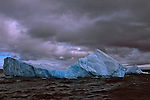 Iceberg floating in Cooper Bay off the coast of South Georgia.
