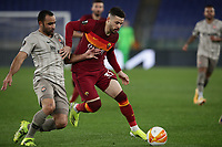Football Soccer: Europa League -Round of 16 1nd leg AS Roma vs FC Shakhtar Donetsk, Olympic Stadium. Rome, Italy, March 11, 2021.<br /> Roma's Carles Perez (R) in action with Shakhtar Donetsk's Ismaily (L) during the Europa League football soccer match between Roma and  Shakhtar Donetsk at Olympic Stadium in Rome, on March 11, 2021.<br /> UPDATE IMAGES PRESS/Isabella Bonotto