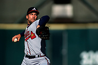 SAN FRANCISCO, CA:  John Smoltz of the Atlanta Braves pitches during a game against the San Francisco Giants at Candlestick Park in San Francisco, California in 1998. (Photo by Brad Mangin)