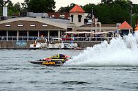 "13-14 June, 2009, APBA Inboards, Walled Lake, Novi, MI. USA.Dan Kanfoush, A-600 ""Mr.Bud"", 2.5 Mod hydroplane.©F. Peirce Williams 2009 USA.F.Peirce Williams.photography.ref: RAW (.NEF) File Available"