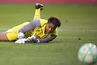 LA Sol goalkeeper Karina LeBlanc watches the ball pass by her. The LA Sol and the Red Stars of Chicago played to a 1-1 draw    at Home Depot Center stadium in Carson, California on Wednesday evening June 3, 2009.   .