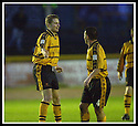 18/01/2003                   Copyright Pic : James Stewart.File Name : stewart-alloa v qots21.STEVE THOMSON (LEFT) IS CONGRATULATED BY CRAIG VALENTINE AFTER HE SCORED ALLOA'S THIRD GOAL......James Stewart Photo Agency, 19 Carronlea Drive, Falkirk. FK2 8DN      Vat Reg No. 607 6932 25.Office     : +44 (0)1324 570906     .Mobile  : +44 (0)7721 416997.Fax         :  +44 (0)1324 570906.E-mail  :  jim@jspa.co.uk.If you require further information then contact Jim Stewart on any of the numbers above.........