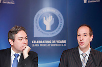 """*** NO FEE PIC***.16/12/2011.(L to R).Mark Kelly Director Irish Council for Civil Liberties (ICCL),.Anthony Romero Executive Director American Civil Liberties Union (ACLU),.during the """"The Future of Human Rights Global Techniques Securing Local Impact"""" international seminar at The Westbury Hotel, Dublin..Photo: Gareth Chaney Collins"""