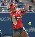 Li Na (CHN) defeats Ekaterina Makarova (RUS) 6-4, 7-6, 6-2 at the US Open being played at USTA Billie Jean King National Tennis Center in Flushing, NY on September 3, 2013