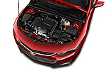 Car Stock 2016 Chevrolet Malibu 1LT 4 Door Sedan Engine  high angle detail view