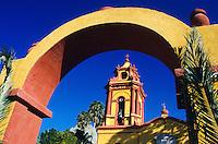 Kirche von Bernal in der Sierra Gorda, Huasteca, Mexiko, Nordamerika