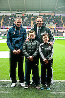 Saturday 2nd Febuaray 2014<br /> Pictured: <br /> Re: Barclays Premier League Swansea City FC  v Cardiff City FC at the Liberty Stadium, Swansea