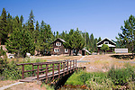 Historic Red River Ranger Station on the remote Red River, a truly wild and scenic river in Idaho is an upper tributary of the Clearwater, a famous and remote trout stream.  Both are famous gold mining areas near Elk City, Idaho.  The ranger station is now closed.